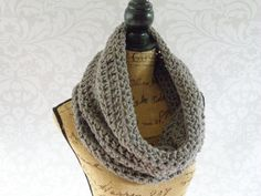 Ready To Ship Infinity Large Cowl Scarf by SouthernStitchesCo