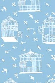 Rob Ryan Adventure, Birds & Cages wallpaper design