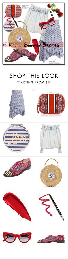 """""""Summer Berries"""" by barngirl ❤ liked on Polyvore featuring Altuzarra, Tory Burch, MSGM, Robert Clergerie, Sisley, Dollup Beauty and Dolce&Gabbana"""