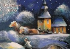 Raija Nokkala. Pastel Art, Baby Bottles, Norman, Christmas Ideas, Illustration, Artist, Painting, Xmas, Soft Pastel Art