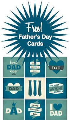 10 inexpensive Father's Day gift Ideas PLUS 9 Free Father's Day printable cards!