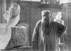 Rodin and statue, The Hand of God, Photo by Edward Steichen, 1907 my fav sculpture and sculpter Auguste Rodin, Musée Rodin, Edward Steichen, Camille Claudel, Famous Artists, Great Artists, Artist Art, Artist At Work, Rodin Drawing