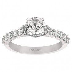 FlyerFit Vintage Bead Set Micropave Engagement Ring