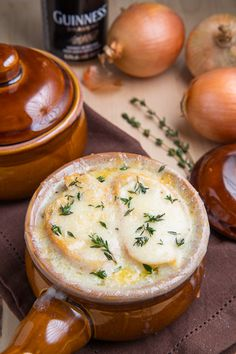 Guinness French Onion Soup - Might have to try this one once.