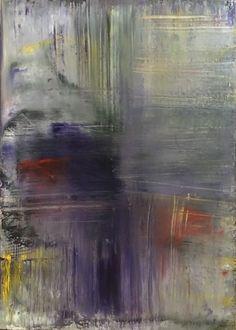 Untitled - Peinture,  50x70x1,5 cm ©2016 par Agnieszka Ceccarelli -                                                                                                Expressionnisme, Expressionnisme abstrait, Modernisme, Art abstrait, Toile, Art abstrait, violet, yellow, gray, red