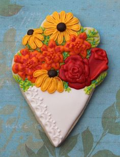 spring flower cookies on ice cream cone cookie