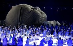 Actors perform in a sequence meant to represent Britain's National Health Service (NHS) perform during the Opening Ceremony at the 2012 Summer Olympics, Friday, July in London. (AP Photo/Jae C. London Olympics Opening Ceremony, The National, British National, London Olympic Games, National Health Service, 2012 Summer Olympics, Britain, Cool Photos, Interesting Photos