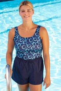 Beach Belle Geometric Jogger - Plus Size Swimsuit Plus Size Swimsuits $29.99