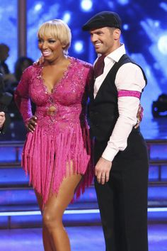 """Tony Dovolani & NeNe Leakes danced a Jive to """"Do My Thing"""" by Estelle Scores - Dancing With the Stars - week 2 - season 18 - spring 2014 - scores 7+7+7 = 21"""