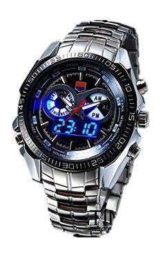DAYAN TVG dichtet den Elite Männer Militärausübungs 100 Meter wasserdicht Quarz Led doppelte Farbe leuchtende Uhren Fütterung Farbe Schwarz - http://autowerkzeugekaufen.de/dayan/dayan-high-quality-curren-maenner-uhren-aus-alloy-4