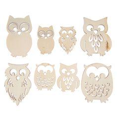 Owls Wood Shapes
