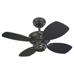 """View the Monte Carlo Colony II Four Blade 28"""" Mini Indoor Ceiling Fan at Build.com."""