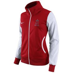 90279e6f7 Women s Los Angeles Angels of Anaheim Nike Red Track Jacket Mlb Giants