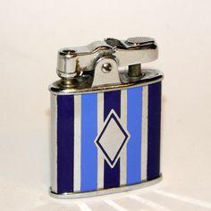 Ronson Princess Lighter. 1930's art deco hard baked 2 color enamel.