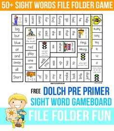 Learning to read sight words. Free Sight Word Game