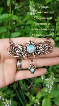Stone Jewelry, Diy Jewelry, Handmade Jewelry, Jewelry Design, Jewellery, Wire Necklace, Necklaces, Bracelets, Wire Jewelry Patterns