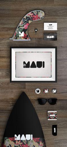 Maui Surf Shop Branding by Blanco Mate Studio Web Design Agency, Brand Identity Design, Corporate Design, Brand Design, Branding Agency, Logo Branding, Logos, Brand Packaging, Packaging Design