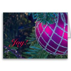 Joy Christmas Card by Florals by Fred #zazzle #gift #photogift