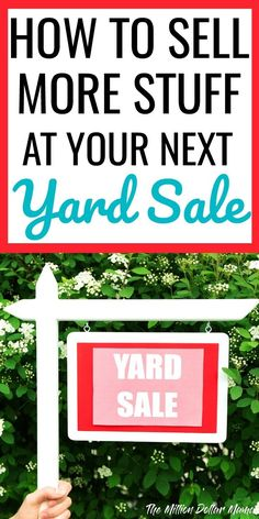 Yard Sale Tips & Tricks! I regularly make hundreds of dollars at my yard sales, without having any big ticket items to sell. Click through to read my best garage sale tips and tricks, including ideas for pricing, displays and signs!