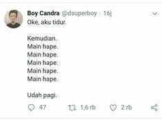 Quotes Lucu, Jokes Quotes, Funny Quotes, Funny Memes, About Twitter, Twitter Twitter, Quotes Romantis, Mood Quotes, Life Quotes