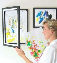 A great way to display a child's art work.