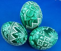 Easter Eggs Pysanky hand painted decorative by MyAuntieEva
