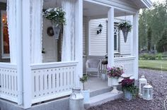 Back Porches, Small Porches, Front Porch, Modern House Design, Cottage, Beautiful, Home, Decor, Houses