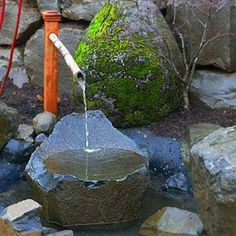 Look into Tsukubai Water Fountains, Japanese Backyard Design Concepts