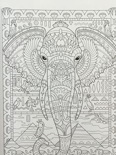 Elephant Adult Coloring Pages . Elephant Adult Coloring Pages . Lovely Coloring Books Colored by Adults Elephant Coloring Page, Animal Coloring Pages, Coloring Book Pages, Coloring Sheets, Elephant Day, Elephant Colour, Pattern Coloring Pages, Printable Adult Coloring Pages, Colorful Drawings