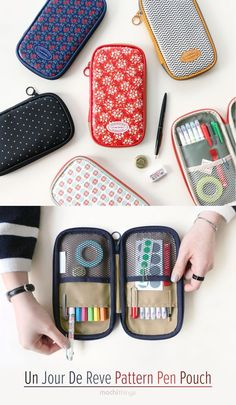 This beautiful pen pouch is absolutely perfect for school & stationery storage!