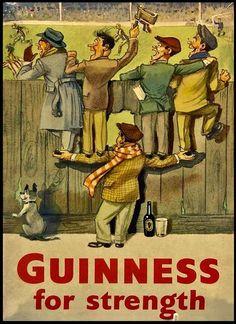 Guinness Rugby #2 Vintage Metal Sign
