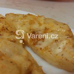 Pečený celer se sýrem a šlehačkou recept - Vareni.cz Celery, Baked Potato, Potatoes, Chicken, Meat, Baking, Ethnic Recipes, Food, Potato