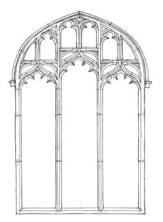 Perpendicular Style - Traceried window 15th century