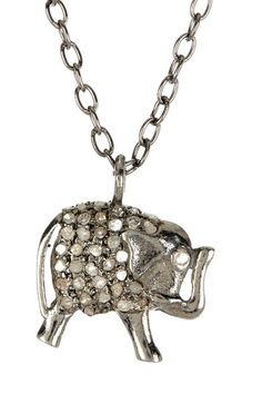 Pave Diamond Elephant Necklace - 1.50 ctw by Forever Creations USA Inc. on @HauteLook