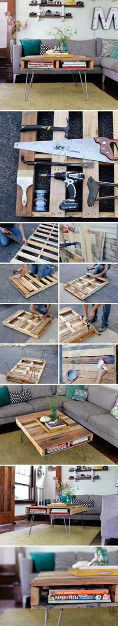 Coffee Table From A Pallet