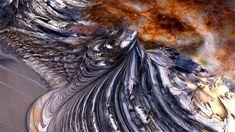 Steel Waves and Stars - 3d Fractal Art #desktop #wallpaper #fractal #fractals #art #space #abstract