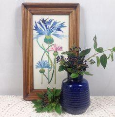 Prachtig schilderij - http://www.vinto.nl/winkel/alle-producten/schilderij-met-geborduurde-bloemen/