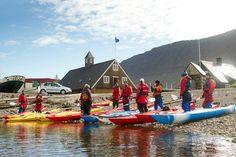 Sea Kayaking in the fishing town Isafjordur