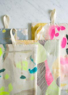 Simple Stitched Hot Pads in Nani Iro Fabric