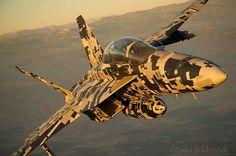 Super Hornet in digital camo