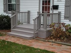 Small Porch with Trex needs some white