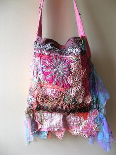 Handcrafted gypsy/ boho style purse by AllThingsPretty flickr