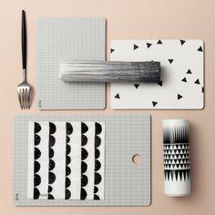 Ferm Living Pen Silk Print Table Cloth China Cups