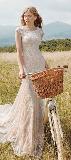 Bicycle Girl, Bike, Golden Harvest, Fields Of Gold, Pure Fun, Beautiful Day, Pure Products, Wedding Dresses, Beauty
