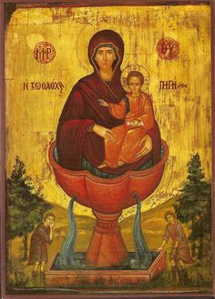This is an image of the Virgin Mary, and it is worshipped. How is this different from the Bronx grotto? Religious Images, Religious Icons, Religious Art, Byzantine Icons, Byzantine Art, Orthodox Catholic, Orthodox Christianity, Roman Catholic, Russian Icons
