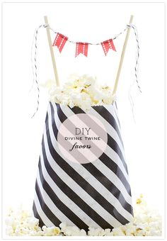 black + white stripes and with mini bunting oh my!