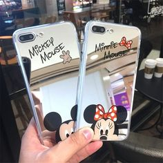 Cute Cartoon Mickey Mouse Mirror Phone Cases for iPhone 6 6s Plus 5 SE 5S 7 8 Pl #Mirror #iphone6case, #iphone7pluscase #iphone5s
