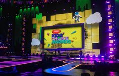 You and 3 guests will attend the 2017 Kids' Choice Awards, Nickelodeon's most anticipated event of the year! The Kids' Choice Awards will take plac. Tv Set Design, Stage Design, Event Design, Nickelodeon Awards, Nickelodeon Shows, Kids Tv Programs, Kids Church Decor, Kids Choice Award, Choice Awards