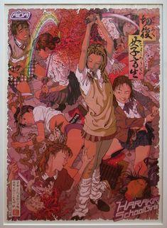 View Harakiri school girls Red by Makoto Aida on artnet. Browse upcoming and past auction lots by Makoto Aida. Pretty Art, Cute Art, Aesthetic Art, Aesthetic Anime, Manga Art, Anime Art, Art Sketches, Art Drawings, Arte Indie