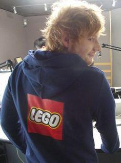 Awww Ed got a Lego hoodie!!